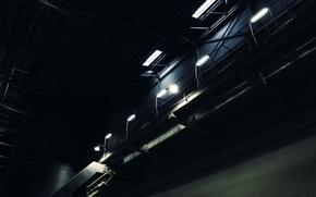 Picture darkness, plant, composition, ladder, lantern