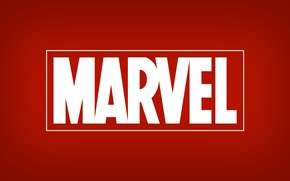 Wallpaper red, logo, logo, Marvel