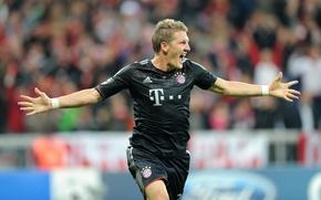 Picture football, star, star, player, the leader, football, Bayern Munich, Bastian Schweinsteiger, Bastian Schweinsteiger, Bayern Munchen
