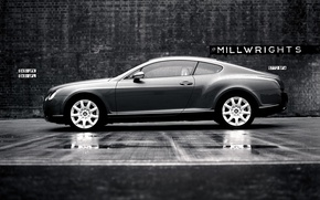 Wallpaper Wall, Bentley, Black and white