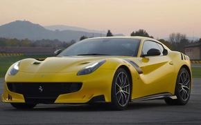 Picture Ferrari, yellow, track, F12tdf