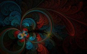 Picture color, abstraction, figure, feathers