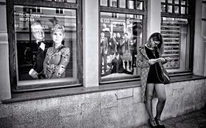 Picture girl, theatre, poster, Ostrovsky, Oleg Tabakov, Marina Zudina, The latest victim
