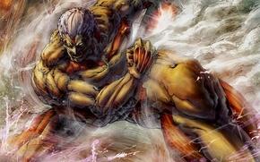 Picture art, Titan, armored, attack of the titans