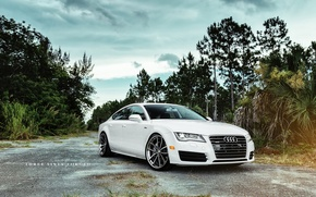 Picture white, 360forged, Audi A7 Sportback