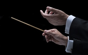 Picture hands, orchestra, Conductor