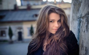 Picture city, long hair, woman, street, mood, lighting, natural