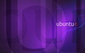 Wallpaper purple, Linux, Linux, Ubuntu, Ubuntu, purple, violet