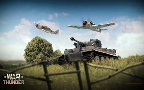 Picture Tiger, fighter, tank, Tiger, offensive, German, piston, single-engine, Focke-Wulf, Focke-Wulf, heavy, War Thunder, Panzerkampfwagen VI, …