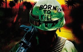 Picture Bullets, War, Vietnam, Weapon, Marines, Soldier, Pearls, Full Metal Jacket, Born to Kill