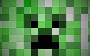 Wallpaper background, world, creeper, Minecraft