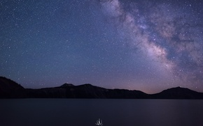 Picture USA, the milky way, Oregon, photographer, Crater Lake, Kenji Yamamura