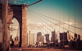 Picture building, New York, Brooklyn bridge, New York City