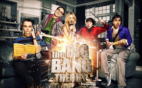 Picture the series, actors, The big Bang theory