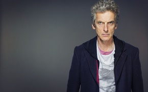 Picture look, face, actor, male, grey background, Doctor Who, Doctor Who, Peter Capaldi, Peter Capaldi, The ...