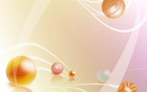 Wallpaper pink, balls