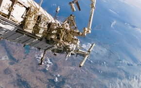 Picture surface, Space, ISS, Earth