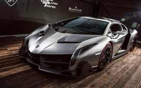 Picture Lamborghini, supercar, the front, 2013, Veneno, jubilee, Veneno, exclusive, Laborgini