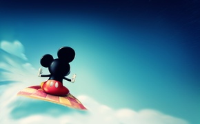 Picture cloud, Mickey Mouse, Mickey Mouse, Disney Company, flight.