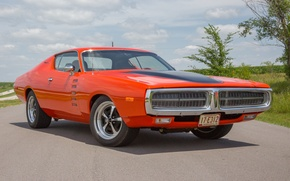 Picture Dodge, Charger, orange, 1972
