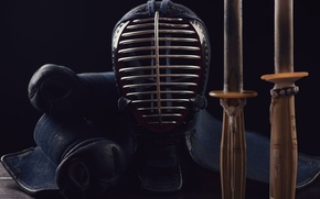 Picture style, the way, sword, large, helmet, two, style, katana, equipment, ammunition, martial art, Kota, instead, …