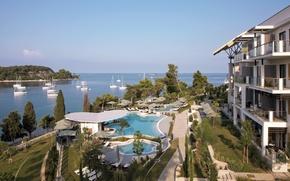 Picture sea, yachts, pool, the hotel, Croatia, the area
