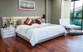 Picture Design, Bed, Pillow, Interior, Bedroom