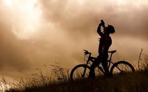Picture nature, bike, male, sport, mountain bike, water bottle