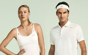 Picture sport, model, nike, tennis, maria sharapova, roger federer