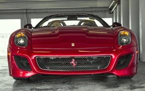 Picture red, before, Ferrari, red, Ferrari, 599, front, SA Aperta