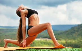 Picture pose, yoga, outdoors