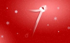 Wallpaper Santa, snowflake, computer, windows 7, hi-tech, operating system