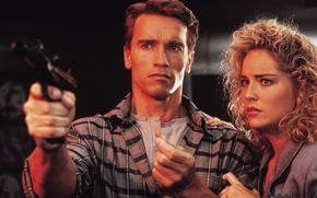 Picture Arnold Schwarzenegger, remember all, Sharon stone