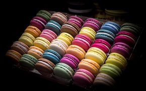 Picture cookies, different, sweet, macaroon, macaron