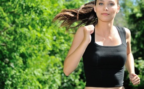 Picture woman, running, physical activity, jogging
