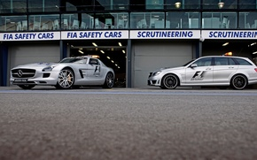Picture E-class, SLS, Safety cars