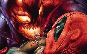 Picture Deadpool, Marvel, Deadpool, Carnage, Wade Wilson, Carnage, Marvel, Wade Wilson