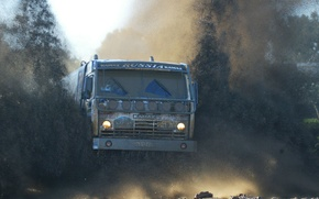 Wallpaper truck, KAMAZ, dirt, off, road, machine