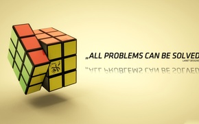 Picture green, colors, red, yellow, faces, puzzle, cube, All Problems Can Be Solved, Rubik's Cube