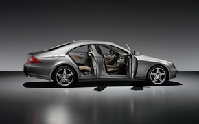 Wallpaper machine, mercedes, open style, saloon
