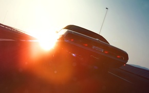 Picture the sun, gran turismo, dodge, challenger