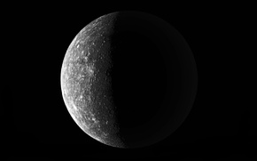 Picture The moon, Black, Craters