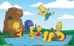 Picture nature, stay, the simpsons, Homer, homer, Bart, the simpsons, bart, lisa, Maggie, Marge, maggie, Lisa, …