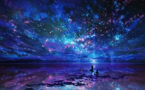 Picture the sky, stars, love