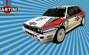 Picture car, cars, rally, Italy, Lancia, Lancia Delta, racing, Martini, sponsor