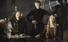 Picture Game of Thrones, Lena Headey, Baratheons, Jack Gleeson, Charles Dance, Joffrey, Cersei, Tywin, The Lannisters