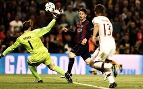 Picture Barcelona, Football, Barcelona, Champions League, Bayern Munich, Manuel Neuer, Bayern Munich, Leo Messi