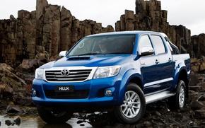 Picture Auto, Blue, Japan, Wallpaper, Japan, Toyota, Car, Pickup, Auto, Hilux, Car, Toyota, Double Cab, Hilux, …