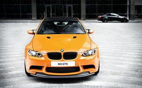 Picture orange, bmw, BMW, the front, orange, e92, daylight, carbon fiber roof, m3 gts