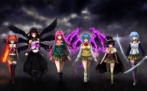 Picture sword, anime, wings, katana, ken, vampire, asian, manga, witch, japanese, pantyhose, oriental, asiatic, oppai, siren, …